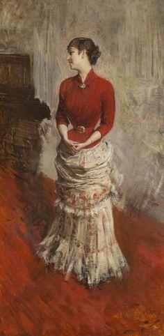 Giovanni Boldini - La contessa de Rasty in piedi