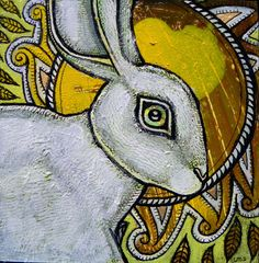 Curious Creatures: The Artwork of Lynnette Shelley ~ White Rabbit Curious Creatures, Summer Solstice, Hare, Fantasy Art, Original Artwork, Cool Art, Bunny, Artsy, Rabbits