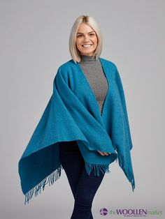 Beautiful outfit for every weather with a perfect combination of our blue poncho, grey turtleneck shirt and always reliable jeans Turtleneck Shirt, Beautiful Outfits, Bell Sleeve Top, Turtle Neck, Weather, Jeans, Blue, Stuff To Buy, Shirts