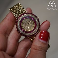 Another vintage Audemars from the safe. This one has diamonds and sapphires. Luxury Jewelry, Bling Jewelry, Pendant Jewelry, Jewellery, Elegant Watches, Beautiful Watches, Stylish Watches For Girls, Expensive Watches, Jewelry Branding