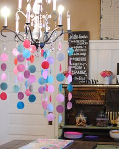 Circle Wool Felt Garland or Streamers - Perfect for Birthday Parties - Decorations and Weddings - Showers and Decor