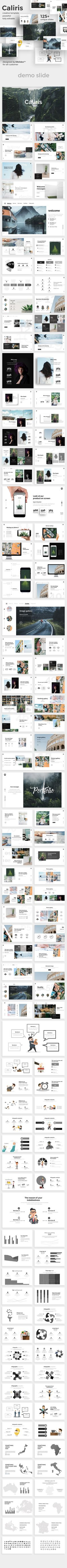 #Caliris Creative #Powerpoint Template - Creative PowerPoint Templates