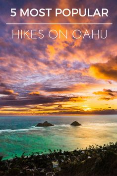 5 MOST POPULAR HIKES ON OAHU! Here are a few of the most popular hikes on Oahu with incredible views and easy to follow trails. While these hikes can be crowded they are still definitely worth checking out!