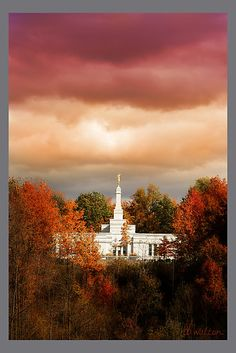 'The Palmyra, New York, LDS Temple' by dbwalton Lds Pictures, Lds Temple Pictures, Church Pictures, Sunday Pictures, Mormon Temples, Lds Temples, Palmyra Temple, Palmyra New York, Later Day Saints