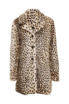 Awear Long #Leopard Fur Coat #60s #style