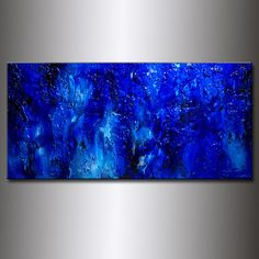 A personal favorite from my Etsy shop https://www.etsy.com/listing/152153625/original-textured-blue-abstract-painting