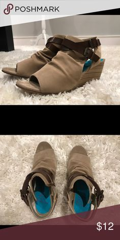 Tan Sandal Wedges perfect condition maybe worn 2-3 times Blowfish Shoes Ankle Boots & Booties