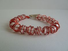 Picture of Wire wrapped beads bracelet