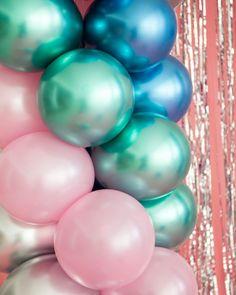 """12/"""" globos de látex Metálico Cromado ramo boda cumpleaños fiesta provisiones UK"""