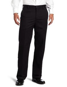 Kenneth Cole New York Mens Flat Front Dress Pant Black White, 38W x 32L