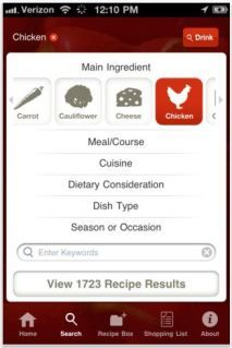 Epicurious app helps you cobble together meals from ingredients you have in your fridge. #free