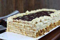 Receta de Tarta de galletas y moka sin lactosa | Eureka Recetas