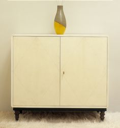 1940's Style Parchment side cabinet