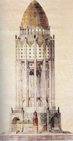 vertigo1871:  Ödön Lechner, 1914