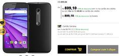 """Smartphone Motorola Moto G 3ª Geração Preto 4G Tela 5"""" Android 5 Câmera 13Mp Dualchip 8Gb << R$ 72819 >>"""
