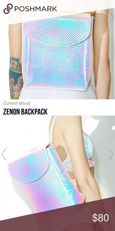 Xenon purse backback Current Mood Zenon #Backpack cuz yer just a 30th century grrl livin? in this f*xked up world! Bring a lil luminosity to yer look with this amaaaazing ?N SUPER bright backpack, featurin? a spacey textured iridescent construction that shines hues of pinks, purples, ?N blues, top flap with magnetic snap closure, eXXXtra roomy interior with pocket, and sikk clear straps with adjustable buckles.?  IRRIDESCENT  Materials: Man Made Materials   #louisvuitton #Chanel #dollskill…