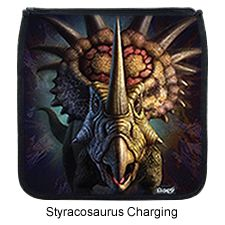 Kidaroo High Quality Brown Backpack With Triceratops Skeleton Dinosaur Dig Interchangable Flap