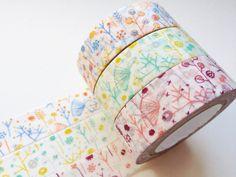 Japanese Washi Masking Tape set of 3 by littlehappythings1