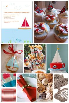 nautical theme birthday or baby shower from the tiny prints blog  celebration ideas   http://www.frostedevents.com