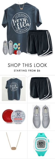 """lazy day"" by hmcdaniel01 ❤ liked on Polyvore featuring NIKE, Rosebud Perfume Co., Kendra Scott, Garmin and Kate Spade"
