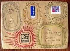 artistic envelopes | Envelope art | Craft Ideas