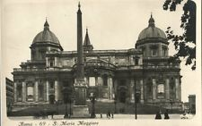 Rome Italy S Maria Maggiore Vintage Photo Unused Nice Postcard