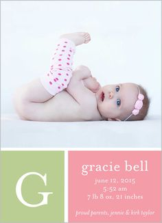 Sweet Simple Girl 5x7 Stationery Card by Yours Truly | Shutterfly