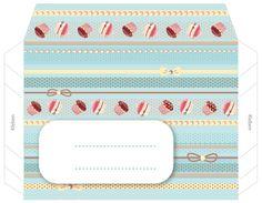 Gutschein Verpackung basteln • Kuvertvorlage persönlich gestalten