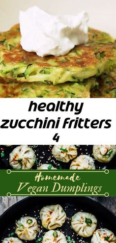 Healthy zucchini fritters 4 - #fritters #Healthy #Zucchini Quick Healthy Desserts, Quick Easy Meals, Healthy Recipes, Quick Apple Crisp, Apple Crisp Recipes, Healthy Zucchini Fritters, Vegan Dumplings, Great Appetizers, Food Videos