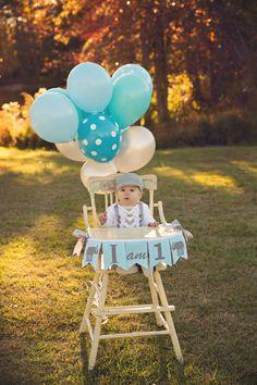 1er cumpleaños niño soy una trona Banner / soy 1 silla alta
