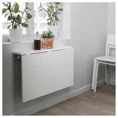 IKEA NORBERG Wall Mounted Drop Leaf Table White Cm Becomes A Practical  Shelf For Small Things When Folded Down.