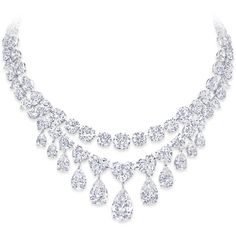 Multishape Double Row Necklace Graff Diamonds ❤ liked on Polyvore featuring jewelry, necklaces, accessories, colar and graff jewelry