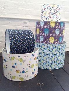 2d395c44459 Enchanted Forest lampshades -- but also cute would be fabric covered hat  boxes!