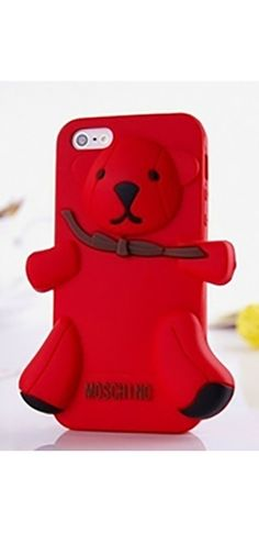 Red Teddy Bear Silicone Phone Case Iphone Samsung Cover