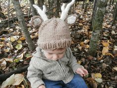Knitting project: Woodland Stag/Deer Baby Hat - Free Pattern
