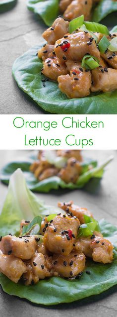 A healthy spin on the popular Chinese takeout dish, you're going to love this fresh and flavorful Orange Chicken Lettuce Cups recipe. Ideal for a light dinner or appetizer!