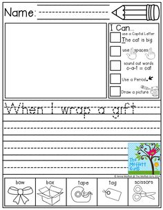 "Journal Prompts for BEGINNING WRITERS! I LOVE the ""I Can Statements"" and the Illustrated Word Bank at the bottom!"