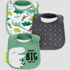 Baby Boys' Dino Bib - Just One You? made by carter's Green Baby Boy Bibs, Carters Baby Boys, Target Baby, Baby Bjorn, Gerber Baby, Baby Coat, Toddler Dolls, Kids Patterns, Baby Accessories