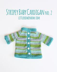 Stripey Baby Cardigan Sweater No. 2 - Little Red WindowLittle Red Window