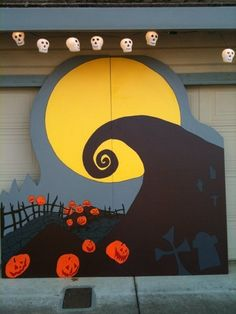 Nightmare Before Christmas Halloween Lawn Decorations Sally Jack Zero Oogie…