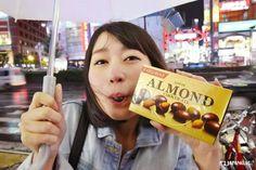 Even on a rainy day we would like an almond chocolate  #lotte #almondchocolate #almond #chocolate #japankuru #japan #100tokyo #tokyo #cooljapan #shinjuku