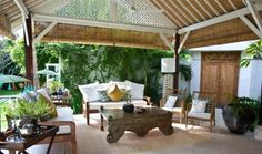 Tropical House Design With Colonial Style in Bali Living Room