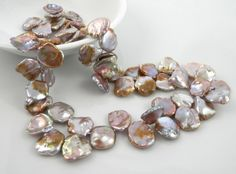 Gorgeous lilac pondslime petal pearls keshi 1316mm by LushRocks, $69.00