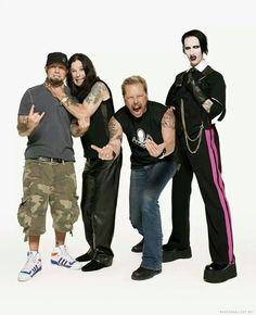 Fred Durst, Ozzy Osbourne, James Hetfield, Marilyn Manson