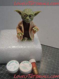 "МК лепка ""Йода"" -Yoda (from Star Wars) tutorial - Мастер-классы по украшению тортов Cake Decorating Tutorials (How To's) Tortas Paso a Paso"