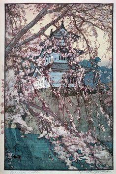 吉田博 Yoshida Hiroshi『櫻八題 弘前城』