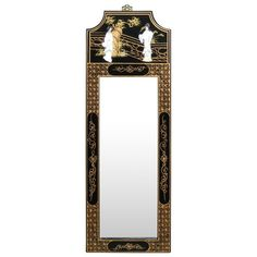 Chinese Style Wall Mirror - Black Lacquer Garden Scenery Motif ChinaFurnitureOnline http://www.amazon.com/dp/B00999FGMA/ref=cm_sw_r_pi_dp_YaVCub0VH4WP6