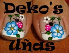 Best Summer Nails Part 5 Pedicure Nail Art, Pedicure Designs, Toe Nail Designs, French Pedicure, Spring Nails, Summer Nails, Nail Picking, Cute Pedicures, Feet Nails