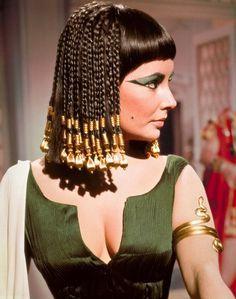 Enfeite de cabelo egípcio, Cleopatra filme, Elisabeth Taylor