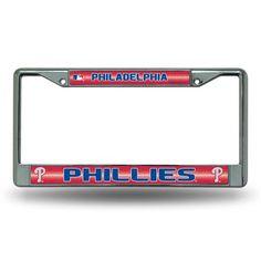 Philadelphia Phillies Bling Glitter Chrome License Plate Frame #PhiladelphiaPhillies